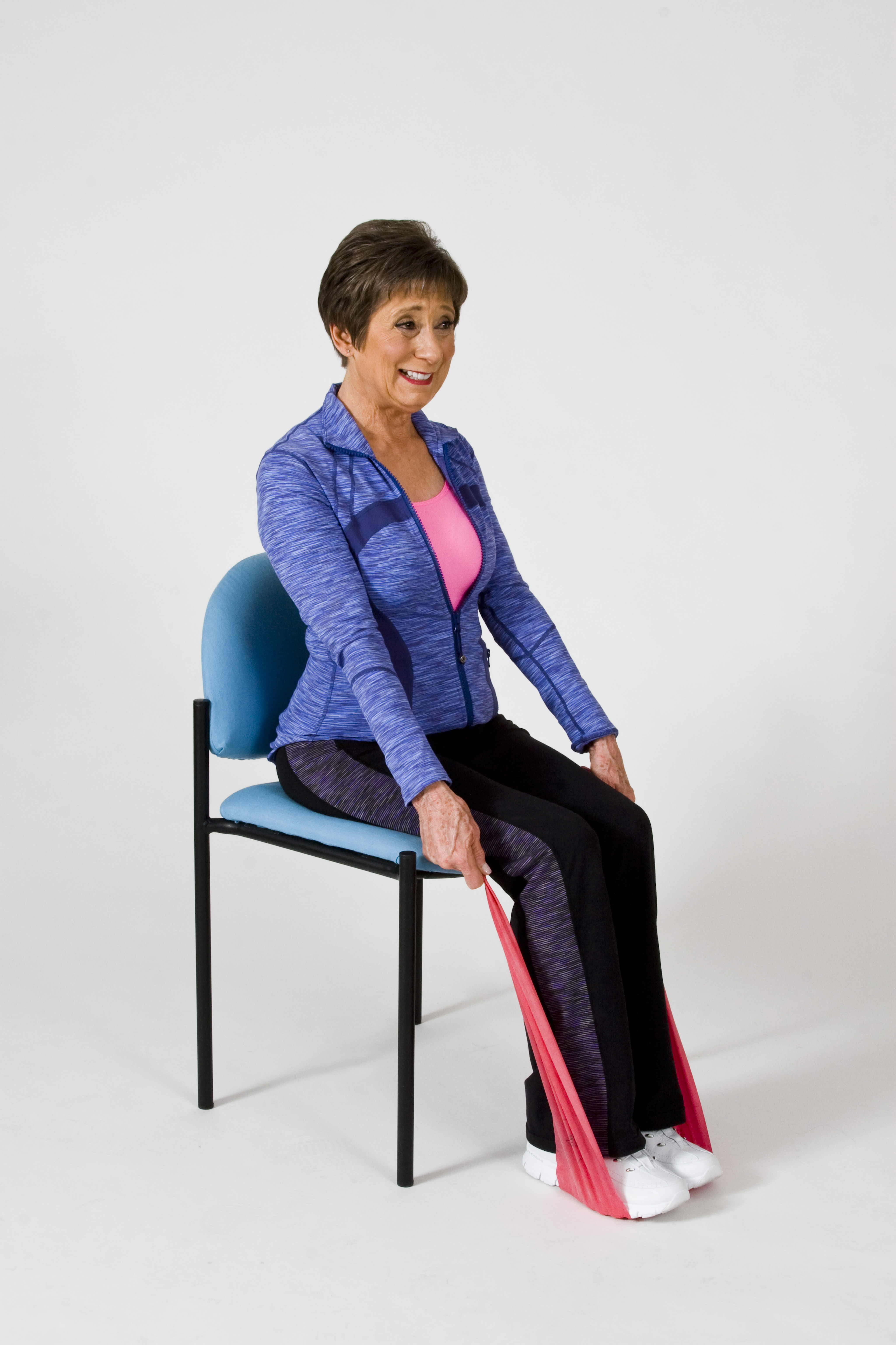 Band Posture Chair - Mary ann wilson rn shows how strength training can be done in a chair